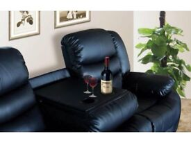 BRAND NEW LEATHER RECLINER SOFAS