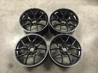 19″ C63 AMG 507 Style Alloy Wheels – Satin Black / Machined Lip – VW / Audi / Mercedes – 5×112