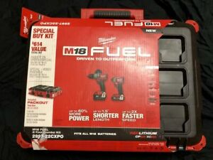Milwaukee M18 FUEL Drill/ImpactCombo Kit w/ Packout Case