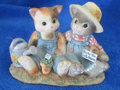 Enesco Calico Kittens You're The Cats Meow 1996