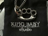 KING BABY STUDIO BRASS KNUCKLE NECKLACE