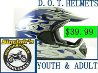 KIDS MX HELMETS IN VARIOUS COLORS + LARGE SCOOTER SELECTION