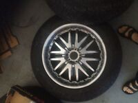 Off road 33 inch tires 80% on 20 custom rims. 5 x 127 jeep 114.3