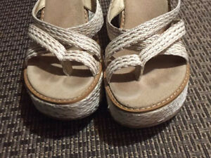 Wedge sandals worn only a few times