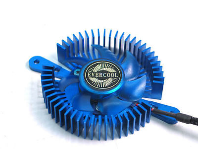 EverCool VC-RI-B Mini UFO Universal VGA Cooler, Blue | Wundr