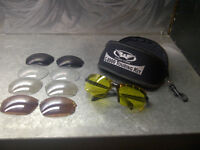 Global Vision C-2000 Touring/Safety Glasses Kit with 5 lens type