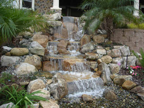 American Pondless Waterfall Kit & 8 ft Stream-DIY disappearing water feature kit