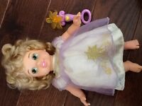 Rapunzel doll with light up wand