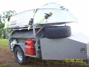 Full Off Road custom built Camper Trailer with Boat and Outboard Buderim Maroochydore Area Preview