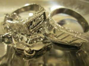 92.5 Silver RINGS (2x) + NECKLACE + BRACELET --- $45 for ALL!!