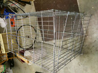 Dog wire cage.