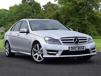 Mercedes-Benz C CLASS C220 CDI BlueEFFICIENCY Sport 4dr (silver) 2012