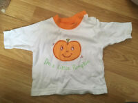 Baby newborn Halloween top pumpkin
