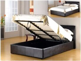 🙅CHEAPEST GUARANTEED IN LONDON-NEW LEATHER OTTOMAN BED WITH LUXURY PILLOWTOP 2000 POCKET MATTRESS😎