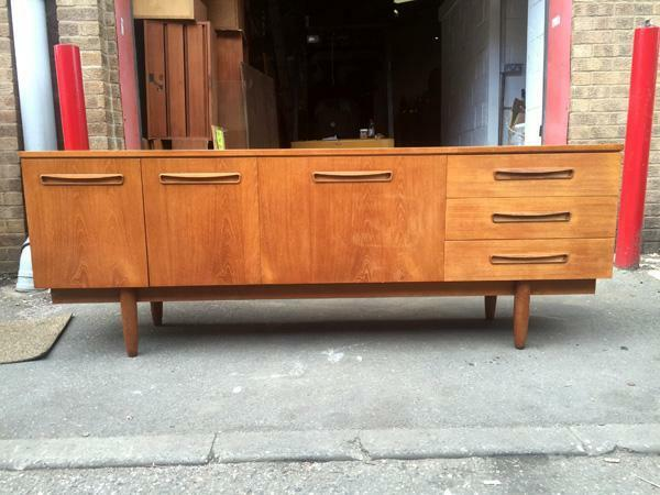 70s mid century retro danish style long teak sideboard g for Furniture 70s style