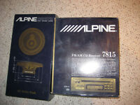 Alpine car stereo with speakers