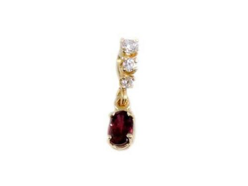Flawless Siam Ruby Pendant Medieval Enemy Peace Maker 14kt Gold Antique Gemstone