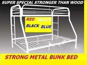 SINGLE/SINGLE& SINGLE/ DOUBLE STRONG METAL BUNK BED ON CLEARANCE
