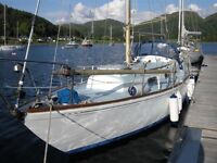 An attractive , reliable Twister 28 foot keel yacht - near Oban for urgent sale.