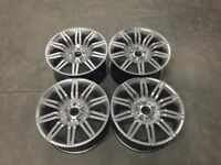19″ Staggered 535 Spyder Style alloy Wheels – Hyper Silver – 5 / 6 / 7 Series / E9x M3 5x120