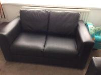 Leather sofas x2