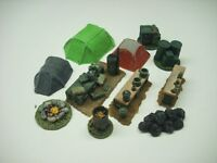 Wargames Scenery. 11 Piece Modern Camp Scene. 1/56 For 28mm. - anyscale models - ebay.co.uk