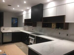 Custom made kitchen cabinets , countertop & more