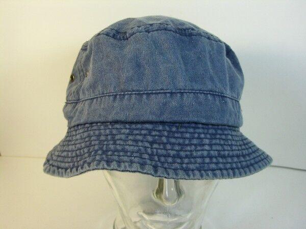 Mütze Anglermütze Strandhut Gr. 58 blau Jeans echt Vintage