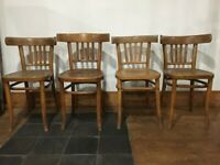 A SET OF 4 VINTAGE/ANTIQUE MID-CENTURY BENTWOOD DINING CHAIRS IN GREAT PRE-LOVED CONDITION