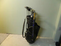 Golf Clubs LH (Campbell) and Bag & Cart