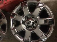 2013 to 2014 Ford F-150 18 Chrome Clad Rims 3 only
