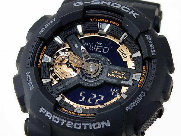 Casio G-Shock Mens Wrist Watch GA110RG-1A GA-110RG-1A Digital-Analog Black Gold