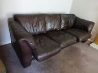 Cousins 4 seater soft leather Settee.