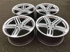 "Set of Genuine Audi Q7 S-line tri bar 21"" rims in showroom cond"