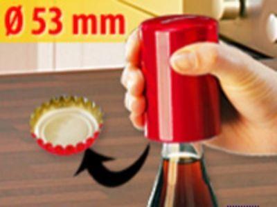 Rot Flaschenöffner (FLASCHENÖFFNER Kapselheber Push Up Open Metallic-Rot)
