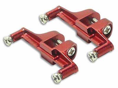 Rakonheli CNC AL Tail Servo Mount Set (Red) - Blade 130X