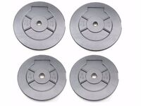 """Weights Plates Vinyl 5kg 10kg Training Weights 1"""" Fitting Weight Lifting Plates UKFitness"""