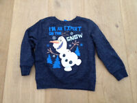 Next Olaf sweater age 5