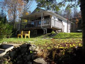 Maison /chalet à louer meublé, bord de lac, Rawdon, Lanaudière