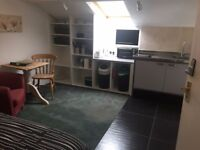 Beech Suite - Self Contained Studio Flat Double Bed, Kitchenette, Bathroom, Washer Dryer, Parking