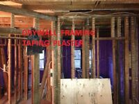 Drywall , taping, framing ,ceiling and  stucco services