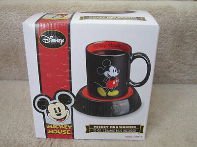 Disney Mickey Mouse Coffee Cup Mug   Warmer Nib New