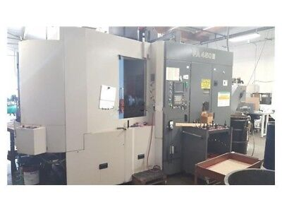 2001 Toyoda Fa450ii Horizontal Machining Center Fanuc 16i-m Control Power Runnin