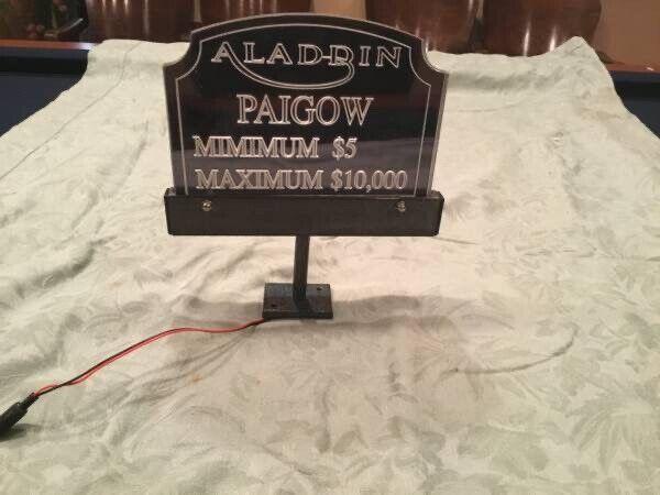 Aladdin Casino Table Paigow Sign