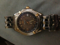 Breitling Wings Watch 100% Original Steel and 18k Solid Gold