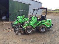 Mini digger and telescopic loader hire aberdeenshire & Moray