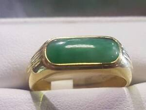 Jade Ring 14 karat gold ring $449 & we have other jewelry