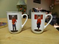 1 RCMP 1 NWMP vintage cups with gold trim
