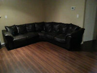 2 Piece Faux Leather Sectional (delivery available)