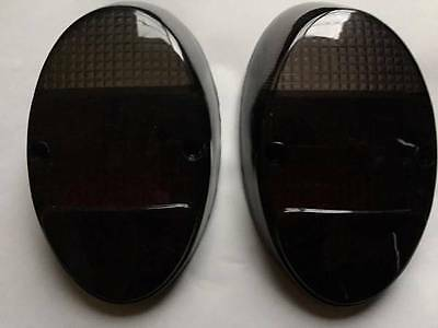 VW BUG Left Right Rear Tail Light LENSES PAIR 2pcs Smoked Dark Red BEETLE 62-67
